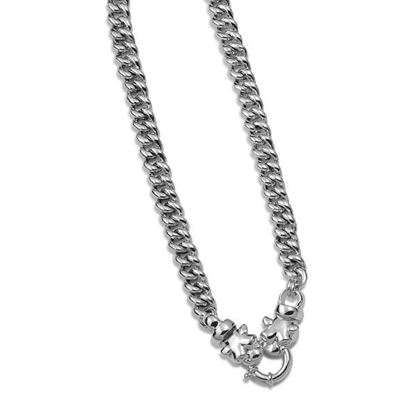 Von Treskow  Curb Link Panther Bolt Clasp Necklace