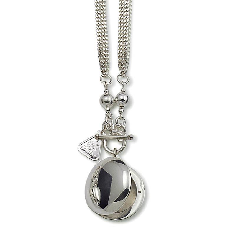 Von Treskow Silver Round Locket Necklace