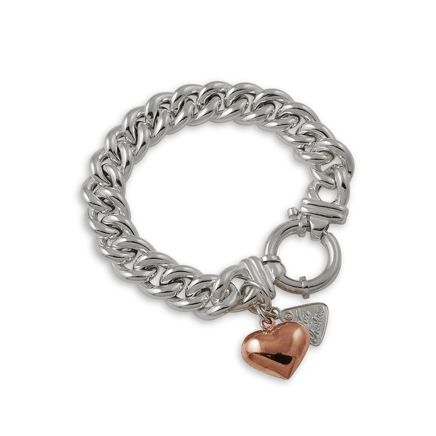 Small Mama Bracelet with Rose Gold Heart