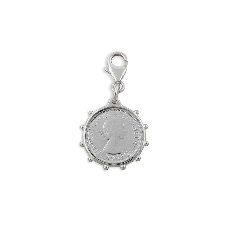 Von Treskow antique bezel coin charm