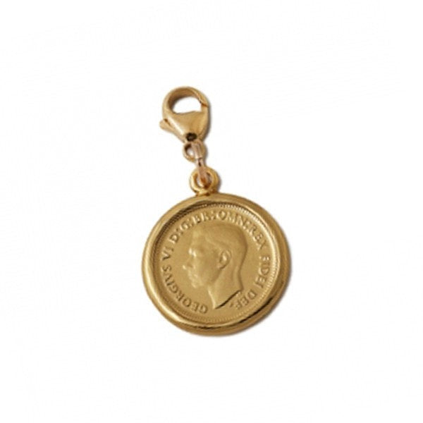 Von Treskow Gold Six Pence Coin Charm