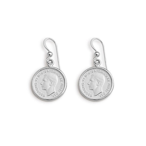 Von Treskow Silver 3 Pence  Earrings