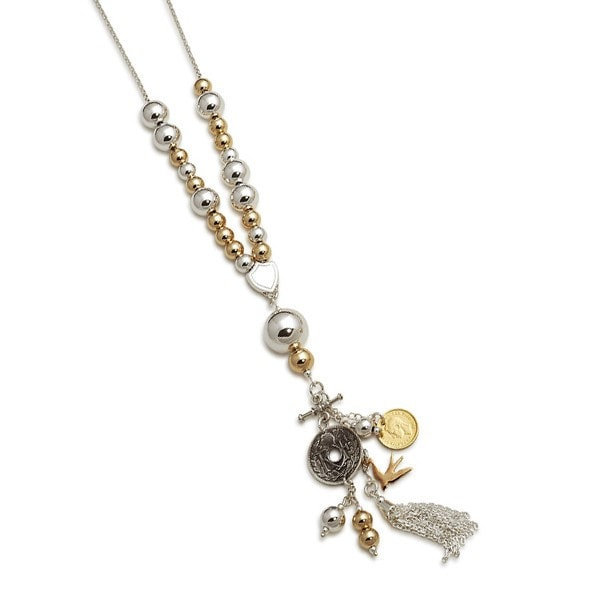 Von Treskow 2 Tone With Multy Charms Necklace