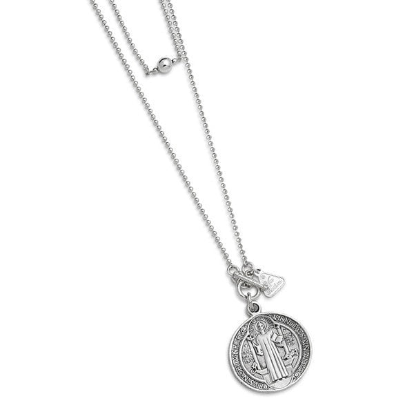 Von Treskow  St Benedict Coin Necklace