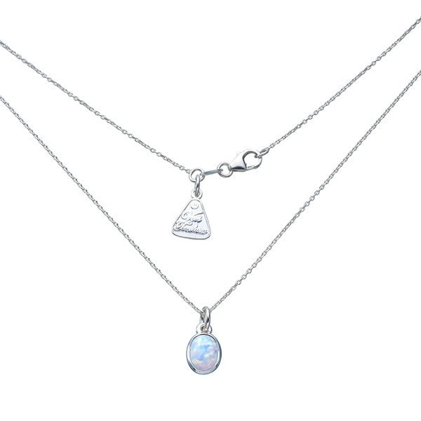 Von Treskow Oval Celine Opal Necklace