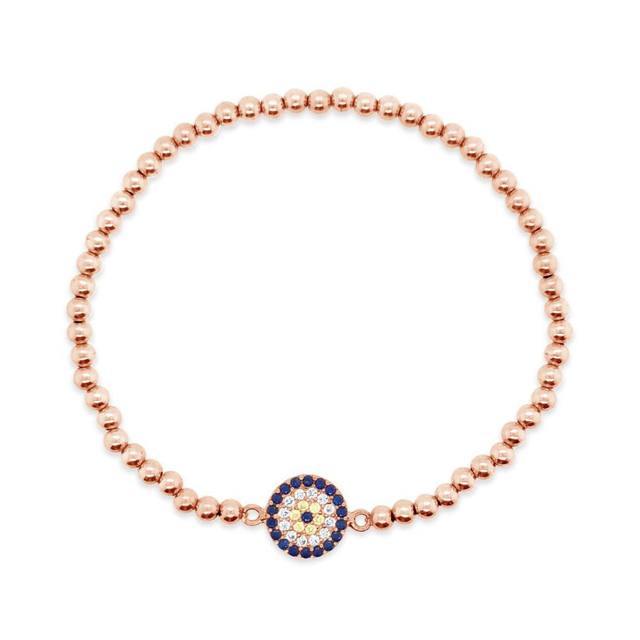 Duo Rose Gold evil eye bracelet