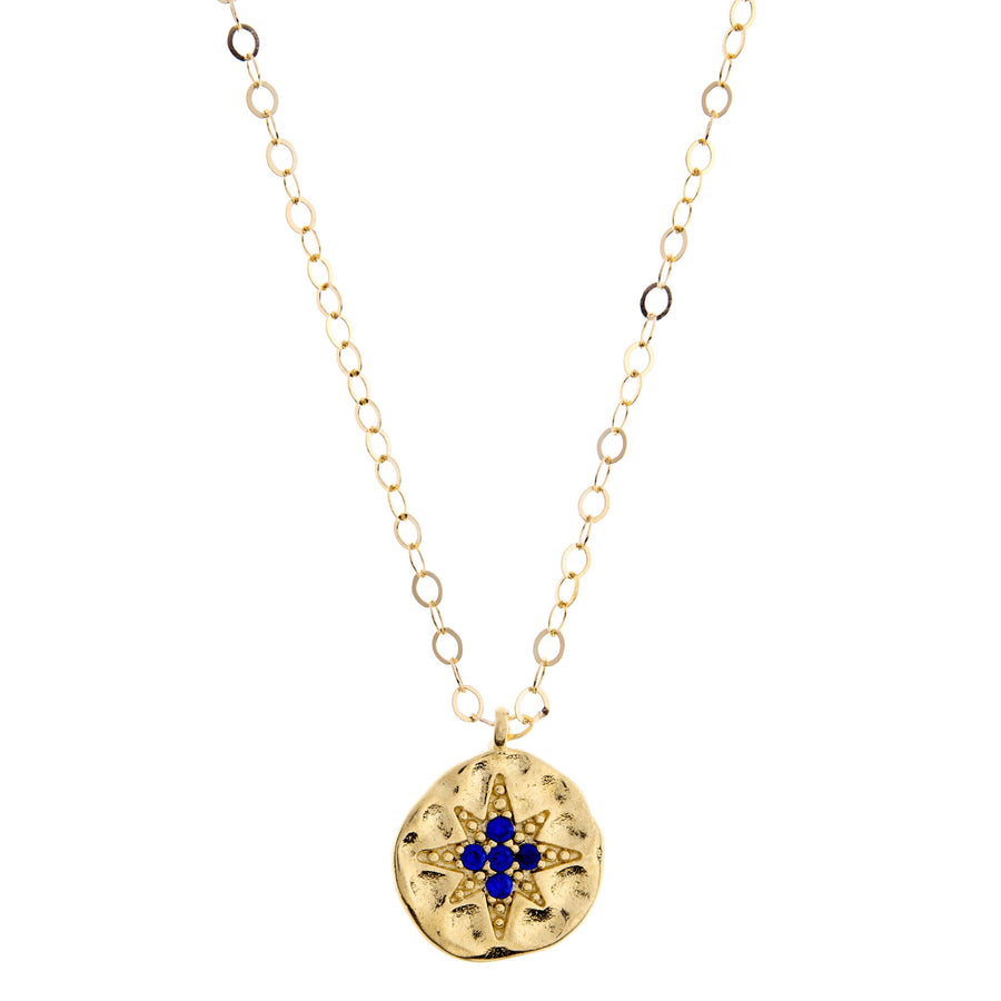 Duo Blue Star Necklace