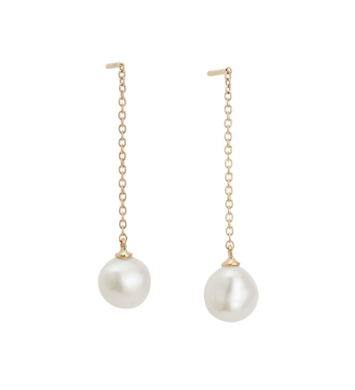 Kirstin Ash OCEAN PEARL CHAIN EARRINGS