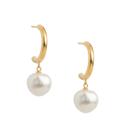 Kirstin Ash pearl hoop earrings