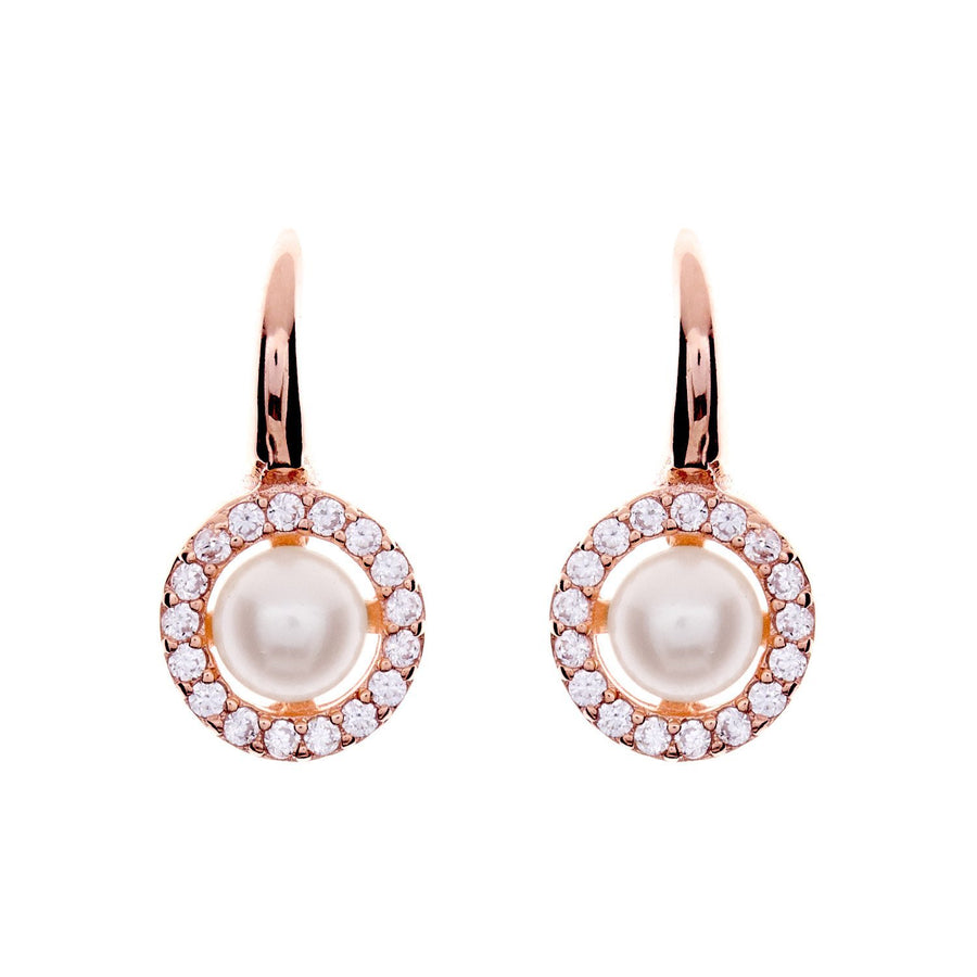 Sybella round fresh water drop earrings