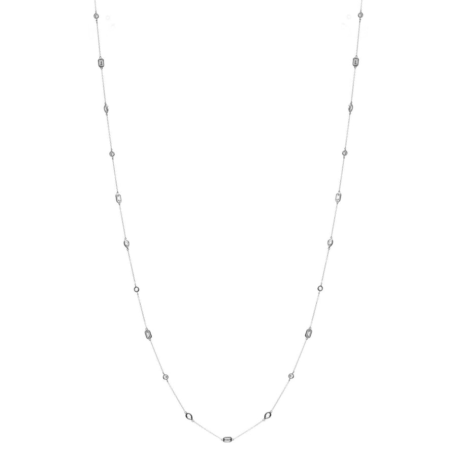Sybella long Multi shape necklace