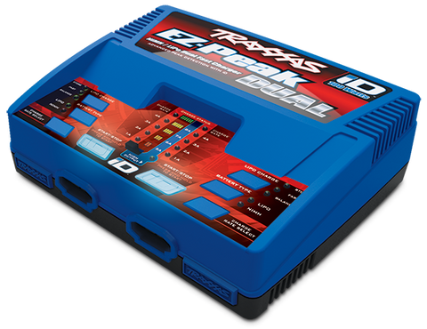 Traxxas Charger, EZ-Peak Dual, 100W, NiMH/LiPo with iD™ Auto Battery Identification