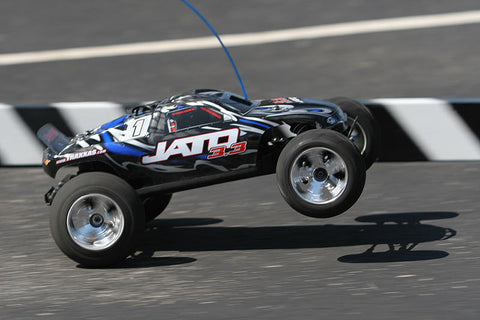 Traxxas Jato 3.3: 1/10 Scale 2-Speed Nitro-Powered 2WD Stadium Truck with TQi 2.4GHz Radio System and Traxxas Link Wireless Module (55077-1)