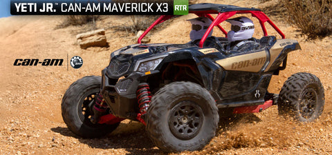 1/18 Yeti Jr. Can-Am Maverick 4WD Brushed RTR (AXI90069)