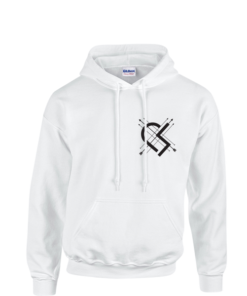 White Arrow Heart Hoodie