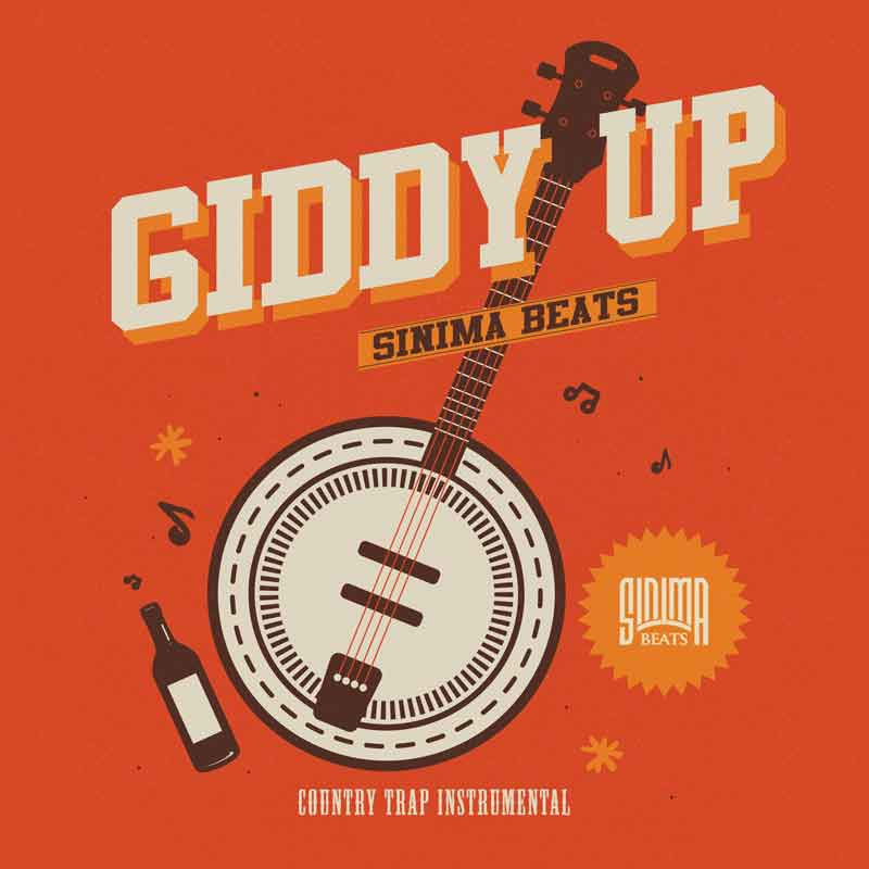 Sinima Beats - Giddy Up Instrumental (Country Trap, Hick Hop, Banjo, Southern, Upchurch, Jawga, Lil Nas X, Rodeo, Top 40 Rap Beat)