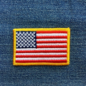 "American Flag Embroidered Patch (2 1/8"" X 1 3/8"")"