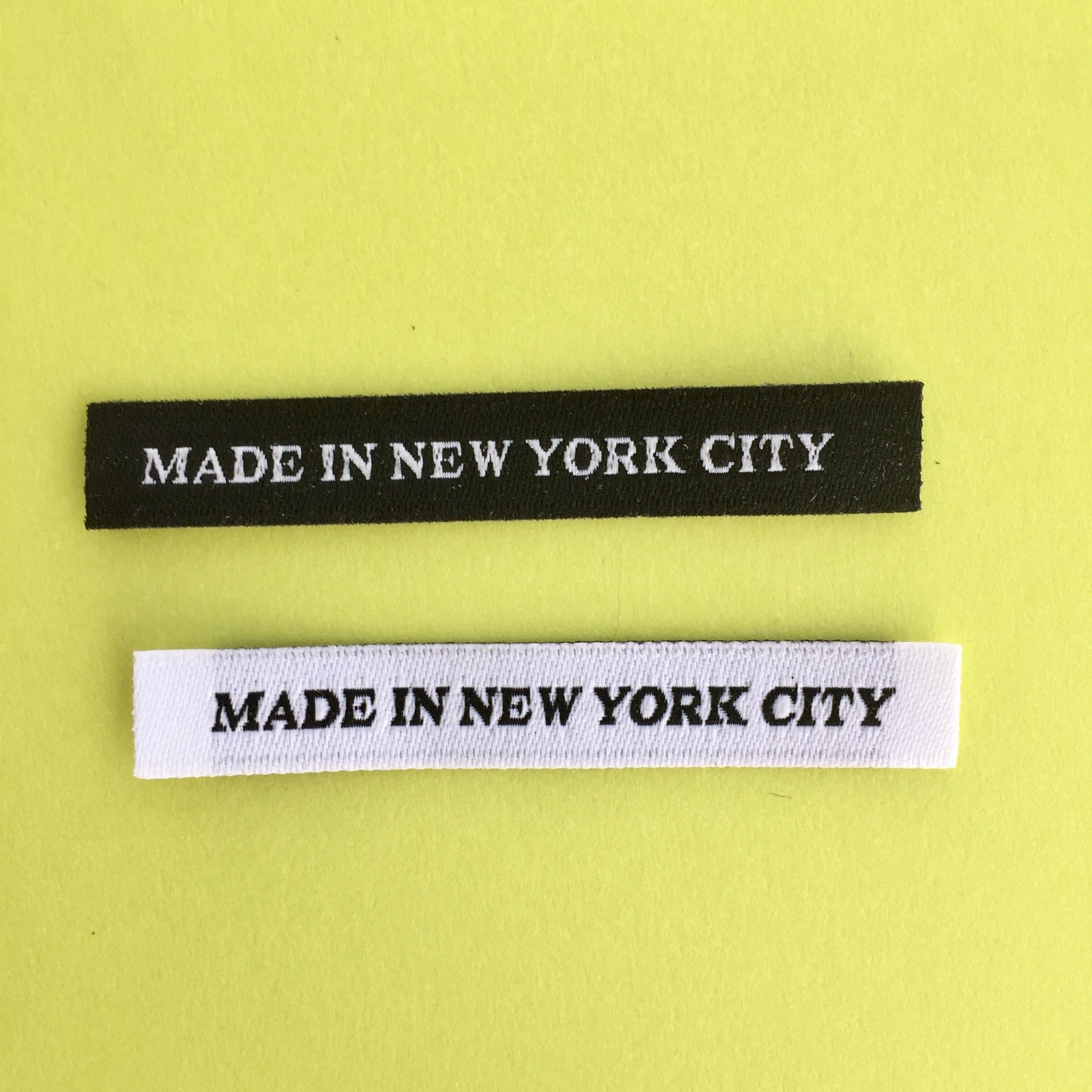 1000 pcs WOVEN GARMENT SEWING SIZE 10 LABELS in Black w White Letter Ship@US