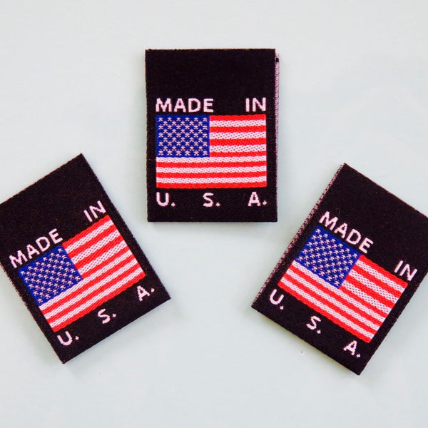 Made In Usa Flag Clothing Labels Black Cruz Label Store
