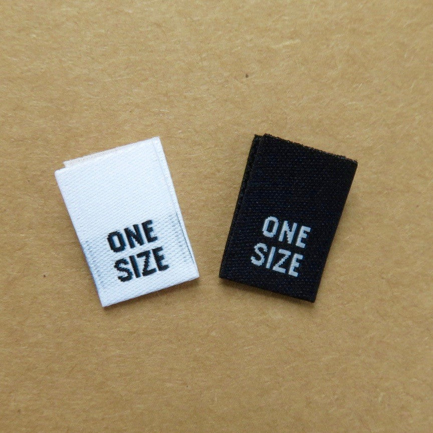 One Size - Clothing Woven Label (Damask)