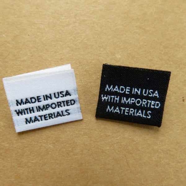 MADE IN USA WITH IMPORTED MATERIALS - Garment Labels