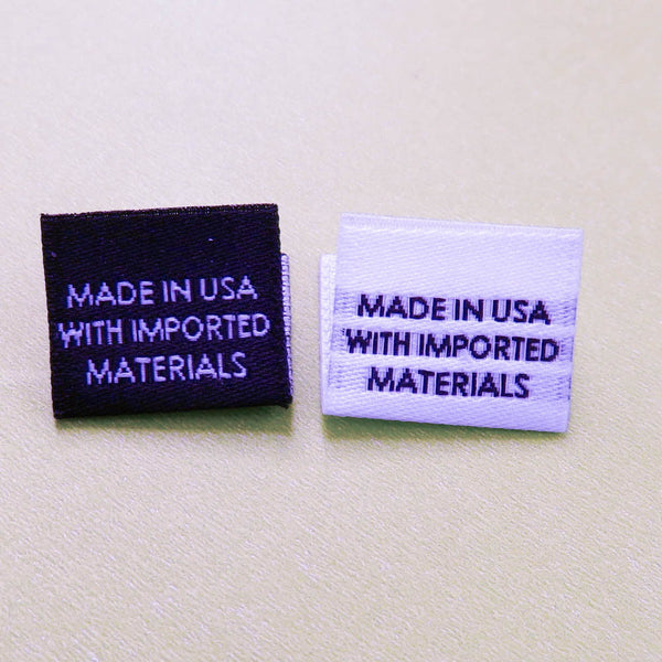 Made In Usa With Imported Materials Garment Labels