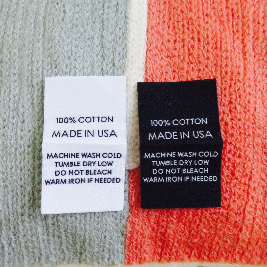 care labels made usa cotton 100 garment label clothing woven store tag damask