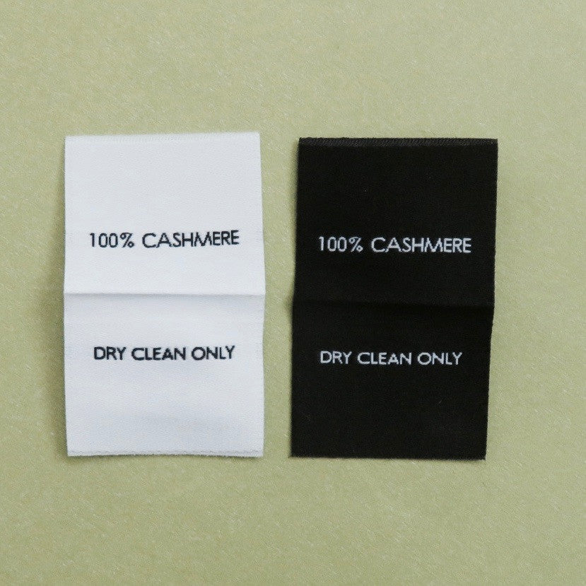 100 Cashmere Clothing Tag Labels Laundry Care Instruction Labels