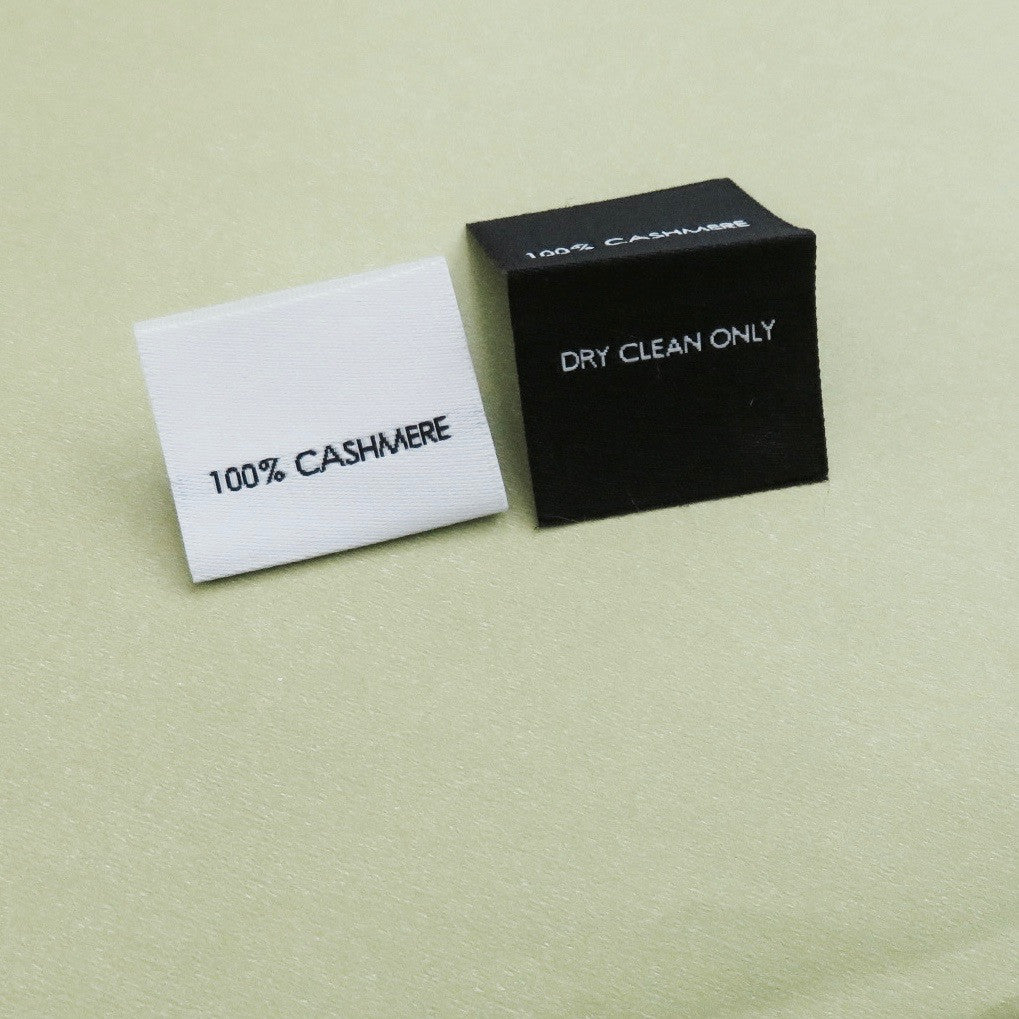 100% Cashmere - Garment Care Labels