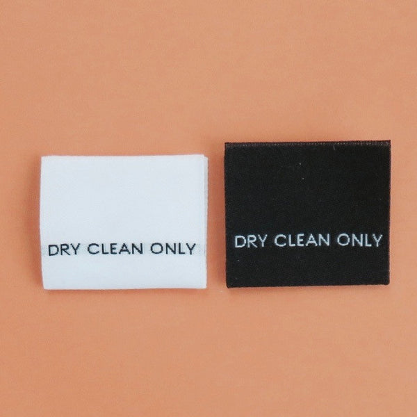 DRY CLEAN ONLY - Garment Care Label