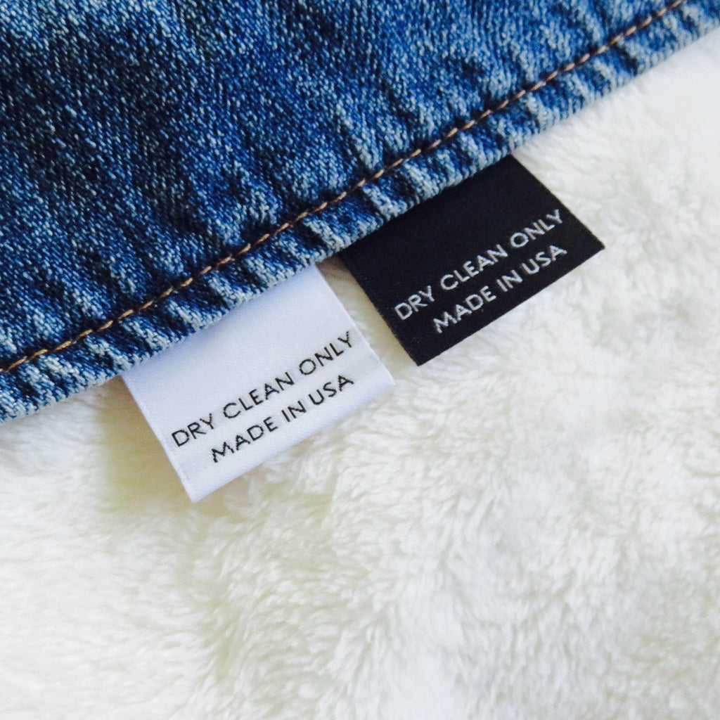 Dry Clean Only (MADE IN USA) - Clothing Care Label