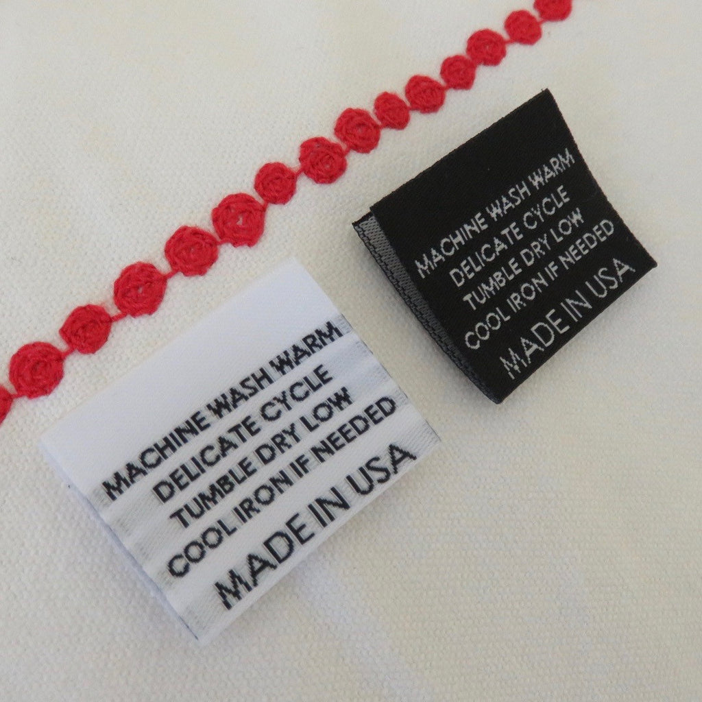 MACHINE WASH WARM (MADE IN USA) - Garment Care Label