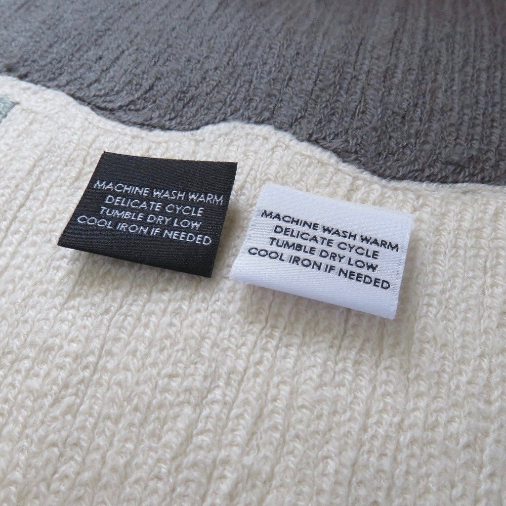 Custom Text Woven Label with Front Only (Center Fold)