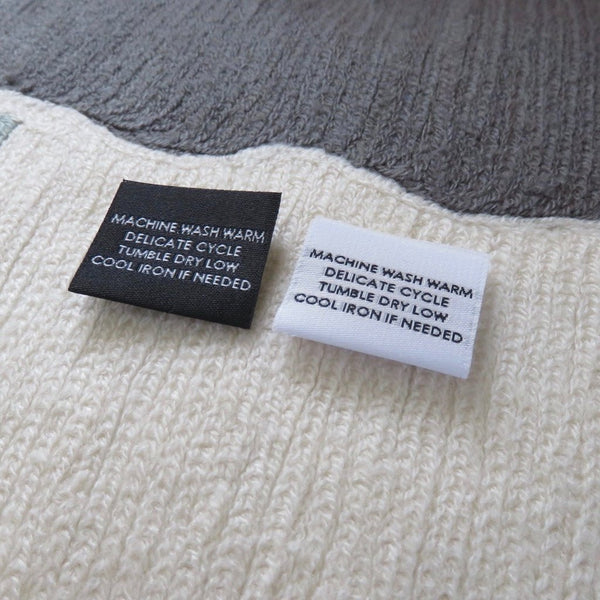 Custom Woven Label (Text Only)  - Center Fold