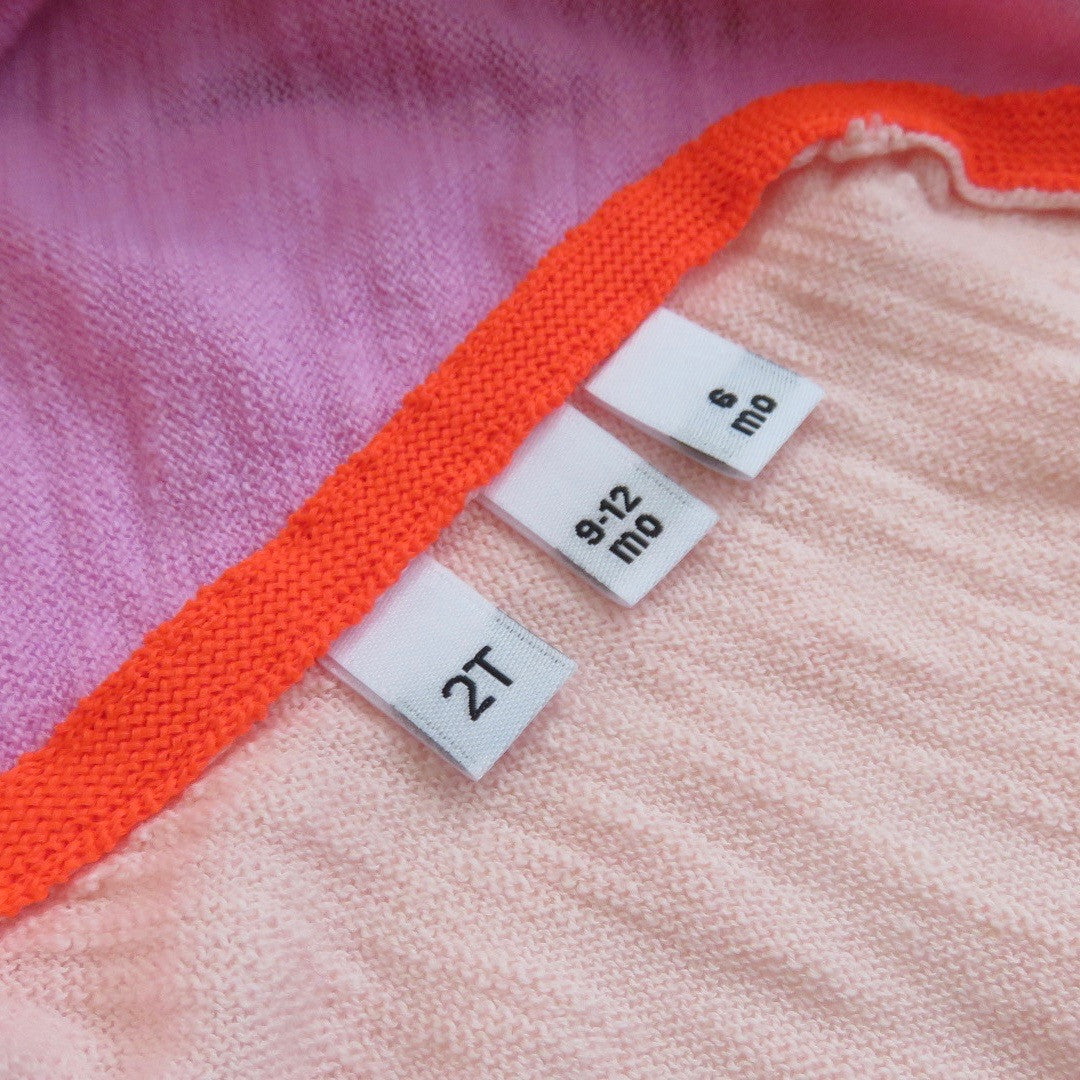 SIZE 0 1 3 5 7 9 11 13 CLOTHING WOVEN GREEN LABEL 100 PCS