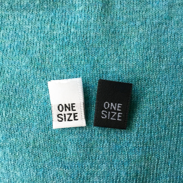 One Size - Clothing Labels (Satin)