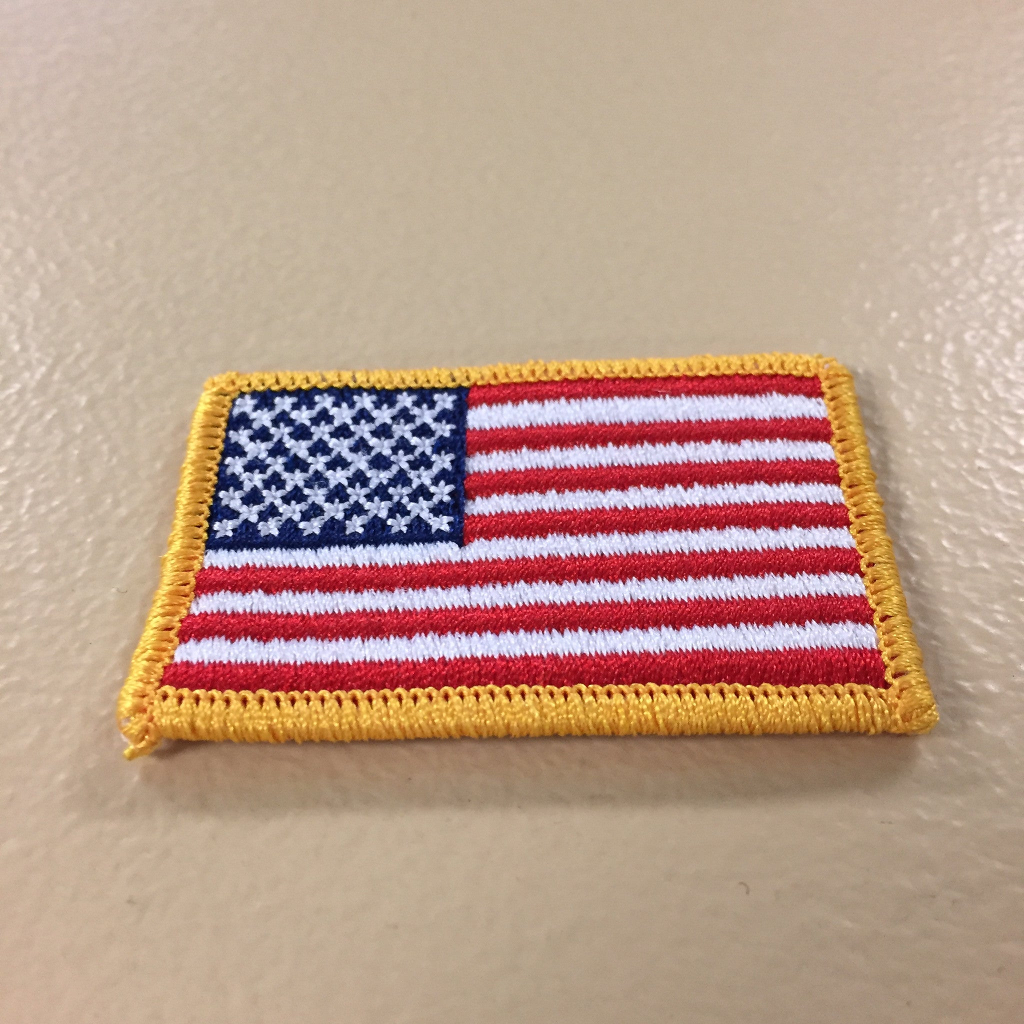 "1 3//8/"" x 2 1//4/"" US United States American Flag Embroidery Patch"