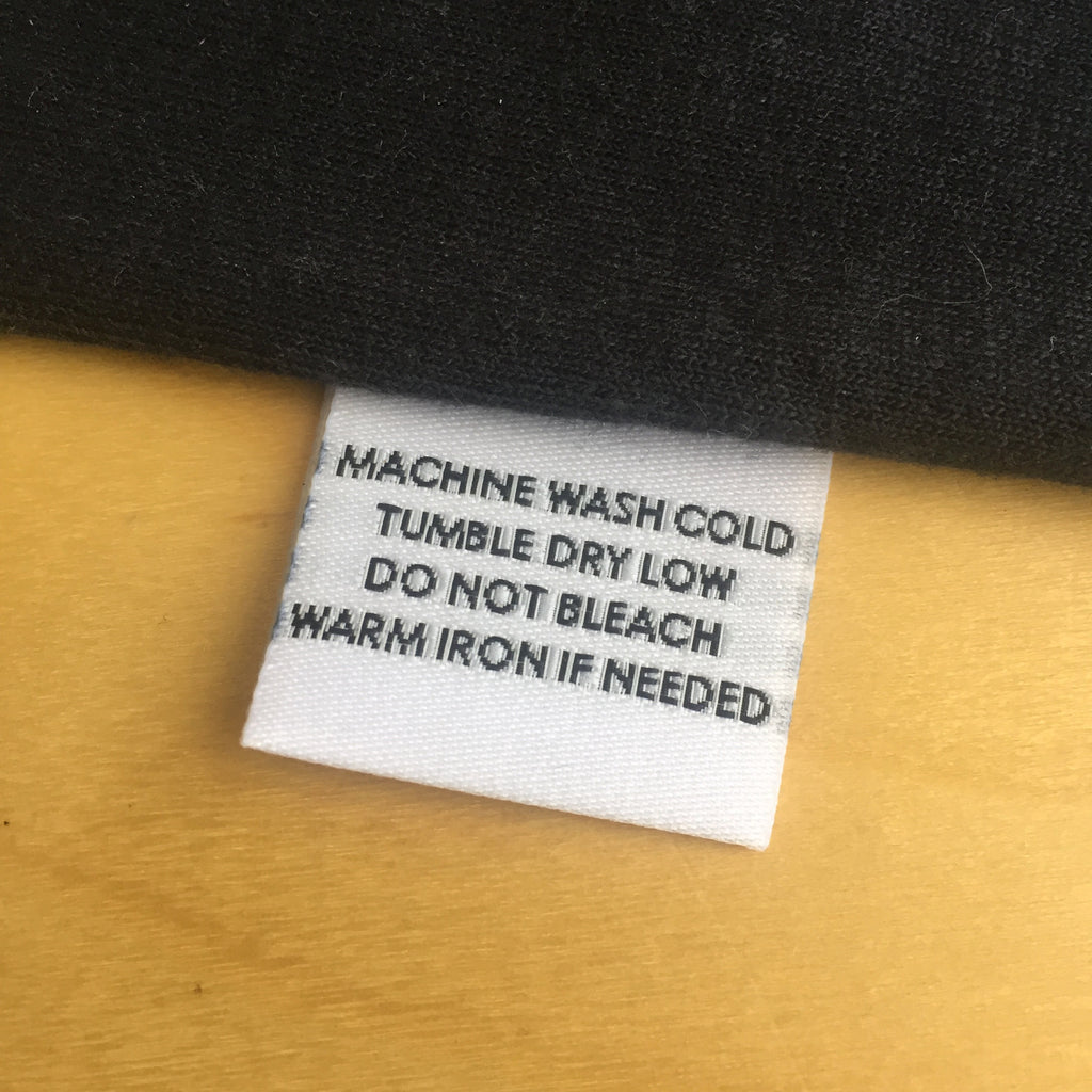 MACHINE WASH COLD - Garment Care Label