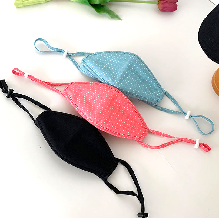 Triple Layered Fabric Face Mask with Soft Wire and Adjustable Strap