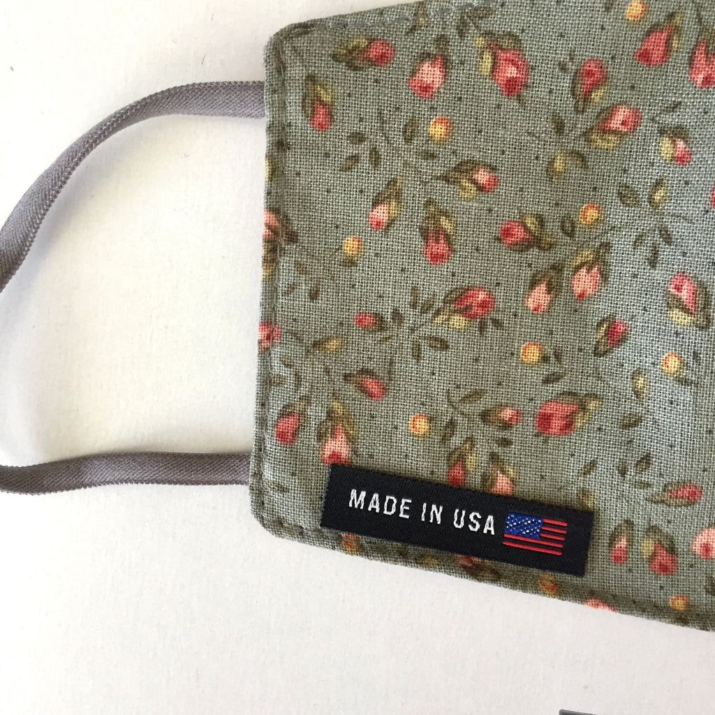 Iron On Made in USA Flag Woven Label