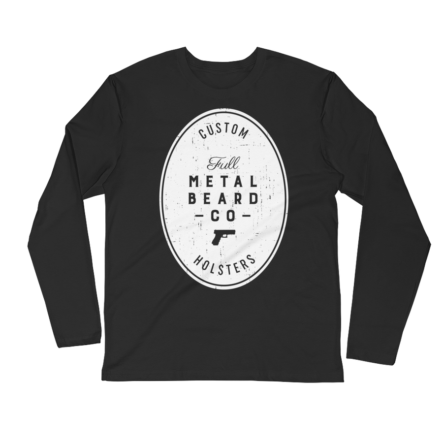 Full Metal Beard Long Sleeve Fitted Crew