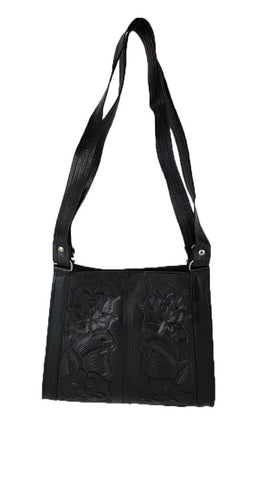 Womens Tooled Leather Tote Bag