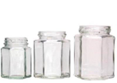 CASE LOT Honey Jar Glass - Hex