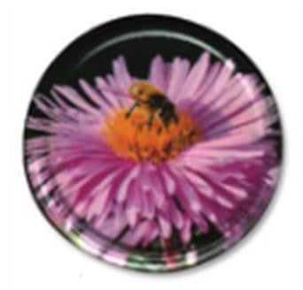 Honey Jar Lid - Pink Flower