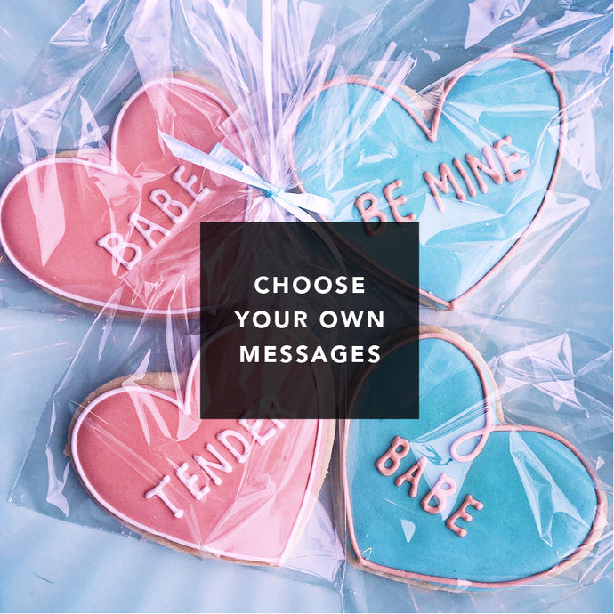 Custom Heart Cookies - individually packaged