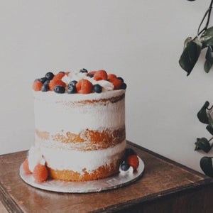 Berries & Cream (naked cake)