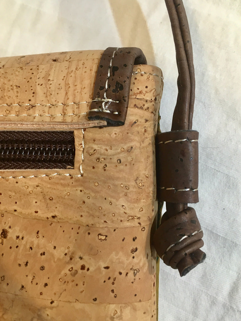 SOLD OUT: Blue, Green & Natural Crossbody Purse