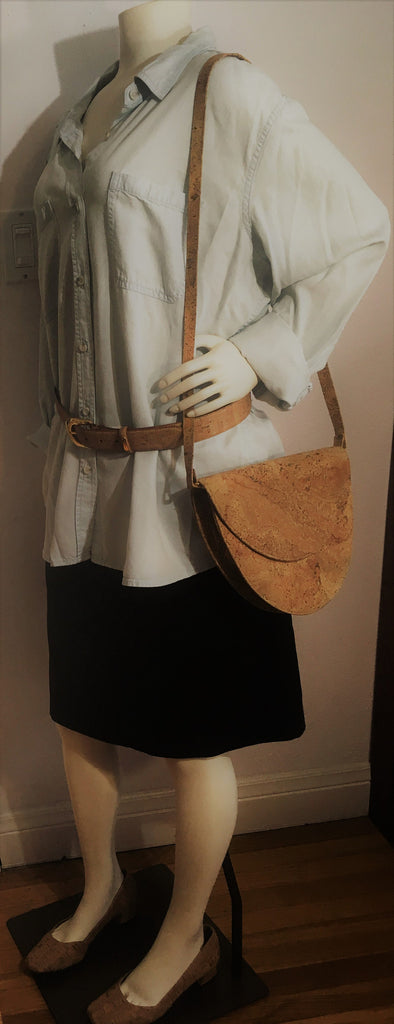 Half Oval Cross Body or Shoulder purse