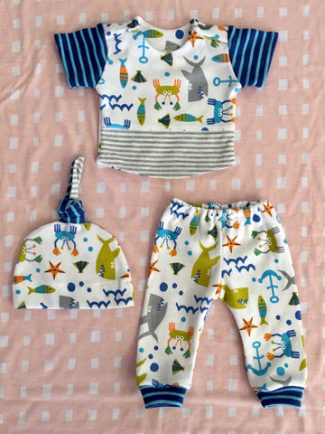 SEA LIFE PANTS, SHIRT AND HAT