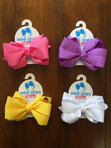 SMALL GROSSGRAIN DAZZLE DOUBLE KNOT BOW